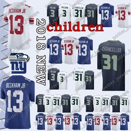 42ce32b4b Chinese YOUTH Seattle Seahawk Jersey 3 Russell Wilson 49 Shaquem Griffin New  York Gaint 26 Saquon