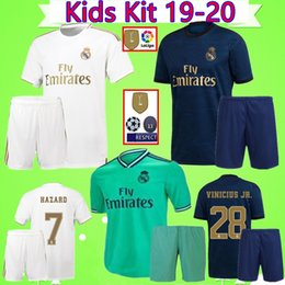 waterproof dry suit Coupons - Kids Kit HAZARD 2019 2020 Real madrid soccer jersey 19 20 camisa VINICIUS boys sets football shirt ZIDANE youth suit Camiseta ISCO Maillot