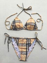 Haute Qualité D'été Deux Pièces Ensembles Porter Des Coussinets De Poitrine Natation En Gros Femmes De Mode Sexy Bikini Stripe Designer ? partir de fabricateur