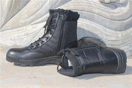2019 dernières chaussures de formation en plein air à la cheville en cuir à lacets jusqu'à fermeture éclair noir magnum bottes hommes tactique ? partir de fabricateur