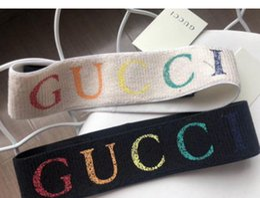 2019 Nuevo diseño Cintas elásticas para hombres y mujeres Marca de Italia Rainbow G Carta de impresión Diadema Bandas para el cabello Headwraps para adultos Dropshipping desde fabricantes