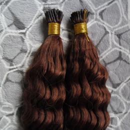 виргинские волосы слияния Скидка #33 темно-каштановый коричневый Реми наращивание волос 200s кератин fusion Pre Blonded человеческих волос кудрявый вьющиеся волосы индийская девственница Реми