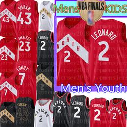 jersey basket enfant Promotion Haut Maillots de basketball pour enfants - Junior Kawhi 2 Leonard Jersey NCAA Vince 15 Carter 43 Siakam 21 Camby College 23 VanVleet 7 Lowry