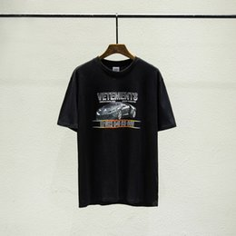 Chemises de course en Ligne-2019 Luxe Europe France Vetements Roadster Voiture De Course T-shirt De Mode Hommes Designer T Chemises Femmes Vêtements Casual Coton Tee