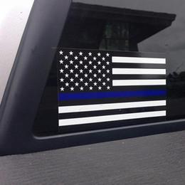2019 auto vinyl blau Offizier dünne blaue Linie amerikanische Flagge Vinyl Aufkleber Auto Aufkleber O23 günstig auto vinyl blau