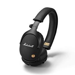 auriculares profesionales de dj Rebajas Marshall Monitor Auriculares Bluetooth con micrófono Deep Bass DJ Hifi Headset Professional Studio Auriculares con cancelación de ruido