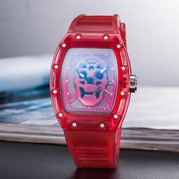 Canada 2019 RICHARD Marque Skull série Haute Qualité Hommes Montre De Luxe Quartz Trois aiguilles Sept couleurs regarder Hot-vente montres et horloges gifts2 supplier three needles watch Offre
