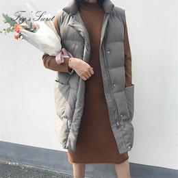 2019 design de colete para mulheres Mulheres Quente casaco grande tamanho Parkas Com Big bolso para Thicker Roupa Vest para a menina Feminino solto Outwear projeto 2018 Ano design de colete para mulheres barato
