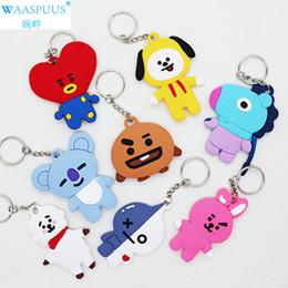saco de silicone coreano Desconto Hot-venda WAASPUUS Coreano anel chave bonito juventude grupo boneca casual chaveiro dos desenhos animados saco de plástico chaveiro pingente