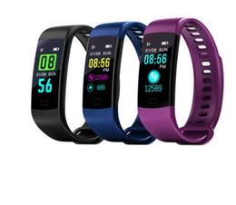 65mm armband online-Y5 Smart Armband Farbdisplay Armband Herzfrequenz Aktivität Fitness Tracker Smart Band Armband für iPhone Samsung