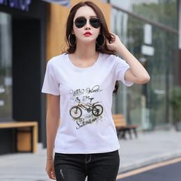 camisas velhas da forma Desconto Novo 2019 Verão Tumblr Moda Mulheres Idosos Imprimir Camiseta Mulheres Algodão O-pescoço Tops de Manga Curta Para As Mulheres Kawaii versão coreana