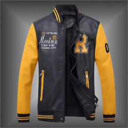 Deutschland Herren Designer Jacke Mantel Gothic PU Leder Patchwork Mode neue schlanke Kragen Spleißen Jacke langen Mantel supplier pu leather collar jacket Versorgung