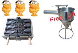 Creatore libero della cialda del pesce della bocca aperta della macchina del creatore di Taiyaki del gelato di shipping ~ 110V / 220v da