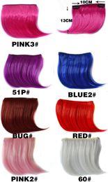 Argentina 2019 colorido caliente Resalte Bangs Gradiente recta pedazo de cabello Ombre extensiones de cabello sin costura para Bangs pelo sintético envío Suministro