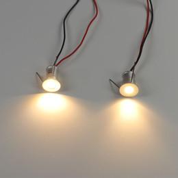 Mini levou lâmpada de luz de teto on-line-1 W Mini LED Holofotes Downlight Teto Pequeno Recesso Iluminação Showcase Gabinete de Cozinha Passo Stair Light 12 V Lâmpada Plafon Spots Dimmable