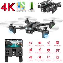 quadcopters rc Desconto Dobrável Profissional Drone com câmera 4K HD selfie 5G WiFi GPS FPV Wide Angle RC Quadrotor Toy Helicopter
