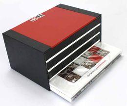 Montre homme bois noir en Ligne-Boîtes de montres de luxe de la marque TS avec la couleur BlackRed Original Box / matière plastique de haute qualité pour les vacances
