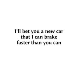 2019 freio rápido Freio mais rápido do que você engraçado decalque adesivo de caminhão do carro janela-6