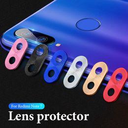 caixa de anel de alumínio Desconto Luxo anel protetor de lente da câmera chapeamento de alumínio para xiaomi redmi note 7 camera case anel capa protetora para redmi note7 pro