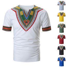 2019 abiti tradizionali africani E-BAIHUI Africa Abbigliamento Africano Dashiki Tradizionale Dashiki Maxi Camicia da uomo Maxi Maglietta Estate Uomo Abbigliamento Uomo T-shirt TAAE abiti tradizionali africani economici