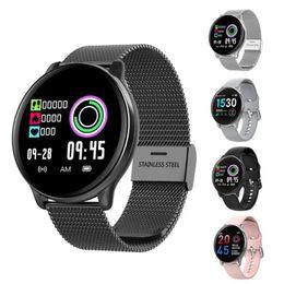 orologio di conteggio Sconti Impermeabile Pedometro intelligente Bracciale Fitness Tracker Health Watch Heart Rate Monitor IP68 Bluetooth donne uomini dell'orologio Conti Passi