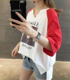 2019 modell koreanisches hemd Explosion Modelle lose Größe Kurzarm-T-Shirt Damenmode Damen Damen T-Shirt Korean Damen T-Shirt günstig modell koreanisches hemd