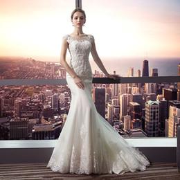 cauda de organza Desconto Vestido de noiva 2019 nova princesa doce rabo de peixe pequeno drag-tail editar vestido de noiva tribunal vestido de noiva