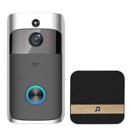 câmera d anel Desconto Vídeo Campainha Da Porta WI-FI HD À Prova D 'Água 720 P Câmera Visual + 1 pcs Dingdong Para IOS Night Vision IR Porta Interfone Anel de Segurança Do Telefone