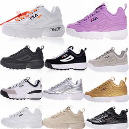 sports shoes 19785 d8b6d Sport all aria aperta Fila Disruptors Fashion Casual Dad shoes Per Uomo  Donna Running White Nero Cool Grey Luxury Sneakers con scatola sconti le  scarpe da ...