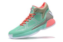 Botas altas online-Los niños de calidad superior de los hombres D Rose 10 Zapatos Boardwalk baloncesto Derrick Rose MVP de rebote X de alta botas de las zapatillas de deporte tienda envío