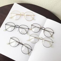 2019 blaue mondbrille 1 STÜCK Beliebte Vintage Runde Metall Vintage Brillengestell retro Weibliche Marke Spektakel Plain brillen brillen brillen