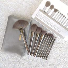 B Kozmetik DUMAN 'N AYNALAR Kozmetik çantası ile 10 parça fırça seti Profesyonel Makyaj Fırçalar Kitleri nereden pc oem tedarikçiler