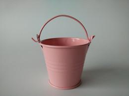 D6 * H5CM Rosa Mini Secchi vasi di latta Piccoli secchi Vaso per fiori Baby Shower party favor grilli fioriera Favore per matrimonio Titolare da