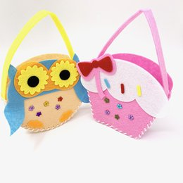 2019 strick-sets Diy handgemachte gestrickte multicolor gewebte korb vlies handwerk kits kindergarten kinder lernspielzeug für kinder rabatt strick-sets