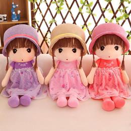 Niedliche kleine mädchen puppen online-Neue Plüschtiere Nette Prinzessin Dolls Plüschtiere Kleines Mädchen Kind Geburtstagsgeschenk Plüschtiere Großhandel