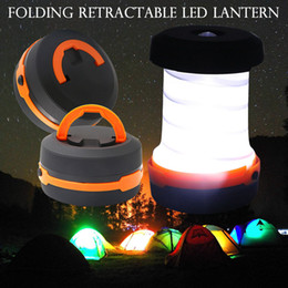 2019 lanternas led ao ar livre Ao ar livre 3 Modos Lanterna Retrátil Tenda LED Lâmpada de Acampamento LED Lanterna Para Caminhadas Emergências de Iluminação Tocha Dobrável ZZA302 desconto lanternas led ao ar livre