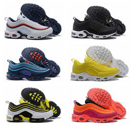 Cheap New Mens 97 Plus Tn Designer Shoes Chaussures Homme 97 Plus Women  Sport Trainers Zapatiallas Hombre Tns Airs Cushion Run Shoe Eur5-12 27b7ec832