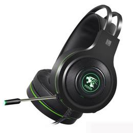 Canada 2019 V5000 Headphone PS4 Gaming Headset Ordinateur Jeu Desktop Internet Cafe Jedi Survival Écouteur 7.1 Son Channel USB 3.5mm 5pcs DHL Offre