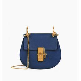 2019 bolsos de cuero de marca azul Bolsos de diseñador Bolsos de lujo Cartera Famosas marcas bolsos de alta calidad Bolsos bandolera Bolsos de hombro de cuero vintage Azul bolsos de cuero de marca azul baratos