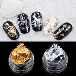 carta adesiva glitter Sconti 1 box oro argento unghie unghie decorazioni per unghie adesivi adesivi fogli irregolari carta adesivi 3d glitter fiocchi fai da te manicure