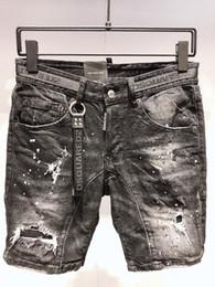 metallkettenbesatz Rabatt Herren-Jeansshorts Sommer Neu Mittelhohe Jeansshorts mit Metallkettenbesatz Lässige Herren-Jeansshorts