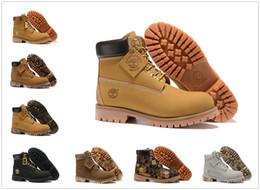 scarpe scarpe europee Sconti Famoso marchio outdoor Timberland Stivali Colore classico Uomo Donna Sneaker Scarpe da ginnastica Stivali militari Castagna Triplo impermeabile EUR36-45