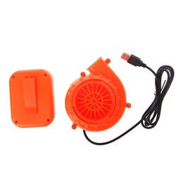 2019 bonecos de bateria Traje Toy Electric New Mini Fan Air Blower Para inflável boneca Battery Powered USB bonecos de bateria barato