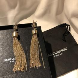 Y orecchino di lusso orecchini nappa famoso designer di gioielli oro Boucle d 'oreille borchie lampadario lungo nappa earing regalo stupefacente da