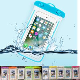 Nadar Waterproof ai787 Bolsa de telefone para menos de 6 polegadas Mobile para iPhone 7 8 X Samsung S8 Night-brilhando tampa do telemóvel Universal Bag de Fornecedores de sacos de rolo