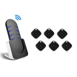 2019 fern-portable alarm Easy Apply Aktivitäts-Tracker Locator-Schlüsselsucher-Set Tragbarer Beeper-Schlüsselanhänger Anti-Lost-Alarm für die Praxis Drahtlose RF-Fernbedienung rabatt fern-portable alarm