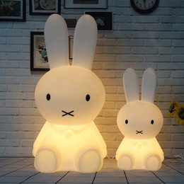 night lamps for kids Coupons - Dimmable 80CM Rabbit Lamp Led Night Light for Baby Children Kids Gift Animal Cartoon Bedside Bedroom Living Room Decorative