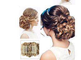 Pente para cabelo on-line-Mulheres Encaracolado Chignon Plástico Pente Extensão Do Cabelo Peruca Peruca Clip Em Grande Cabelo Bun Garras pin coroa tiara Acessórios de cabelo