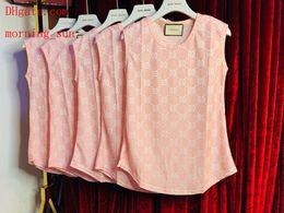 chalecos de seda Rebajas 2019 mujeres de la marca de moda camiseta de la letra suelta casual de seda de hielo chaleco delgado camisetas casuales femme alta calidad verano ropa mujer BC-15