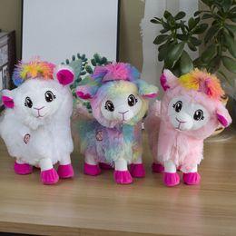 jouets en peluche de pâques en gros Promotion Cartoon électrique pour animaux en peluche, mignon Alpaga Llamas, Danse Fesses, Bouton Torsion, Party Kid » cadeau d'anniversaire, collecte, décoration